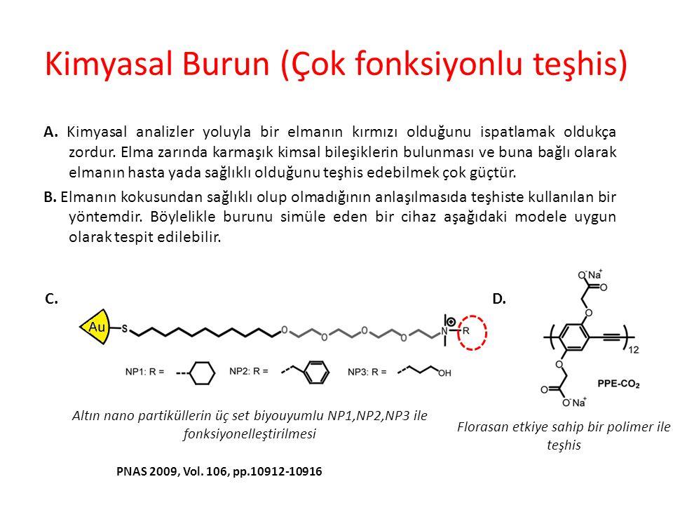 Kimyasal Burun (Çok fonksiyonlu teşhis) D.PNAS 2009, Vol.