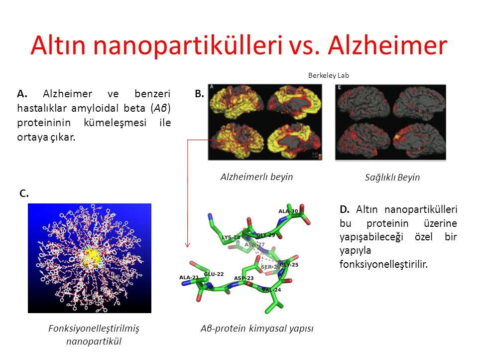 Altın nanopartikülleri vs.Alzheimer A.