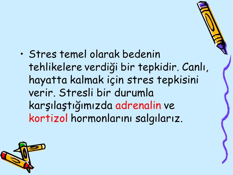 Stres temel olarak bedenin tehlikelere verdiği bir tepkidir. Canlı, hayatta kalmak için stres tepkisini verir. Stresli bir durumla karşılaştığımızda a