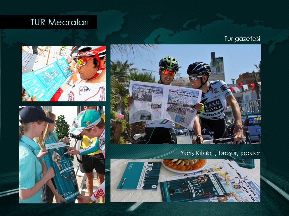 TUR Mecraları Tur gazetesi Yarış Kitabı, broşür, poster