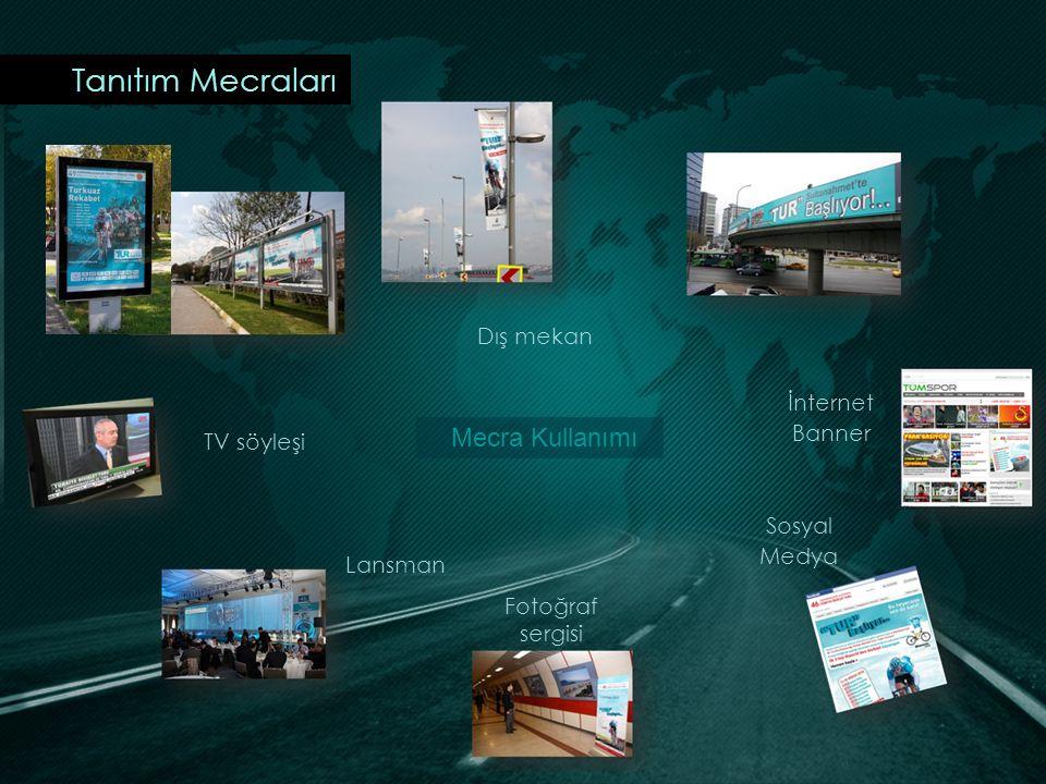 Tanıtım Mecraları İnternet Banner Sosyal Medya Fotoğraf sergisi Lansman TV söyleşi Dış mekan Mecra Kullanımı