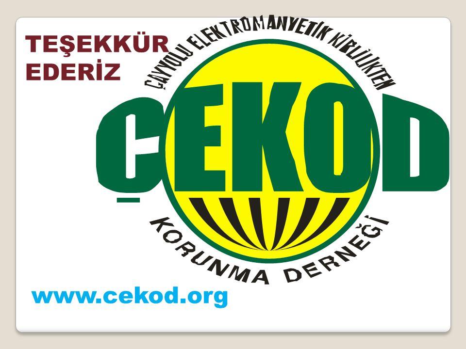 TEŞEKKÜR EDERİZ www.cekod.org