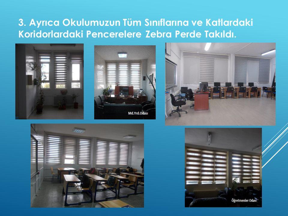  Yeni Personel Panosu; Vizyon, Misyon, Tarihçe; Nöbetçi Öğrenci Masasını Okulumuza Kazandırdık.