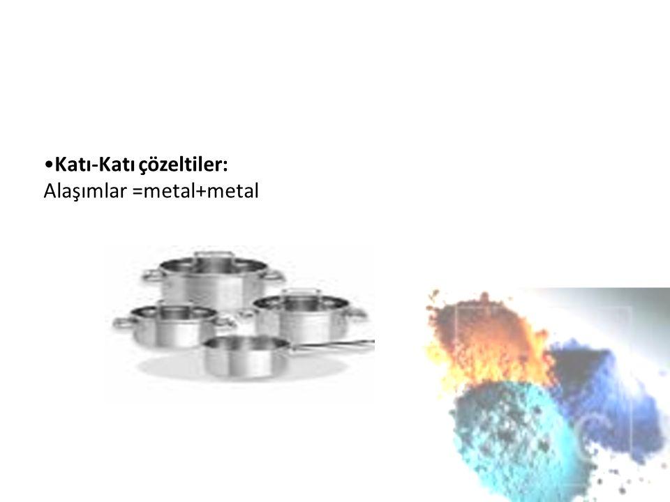 Katı-Katı çözeltiler: Alaşımlar =metal+metal