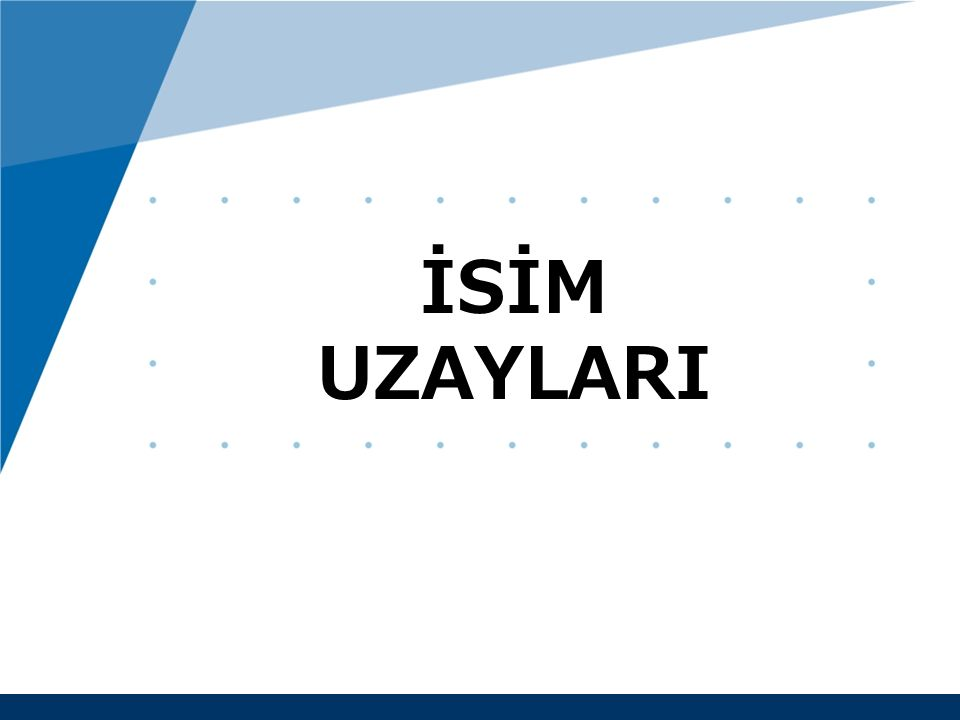 www.company.com İSİM UZAYLARI