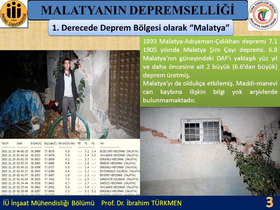 İÜ İnşaat Mühendisliği Bölümü Prof.Dr.