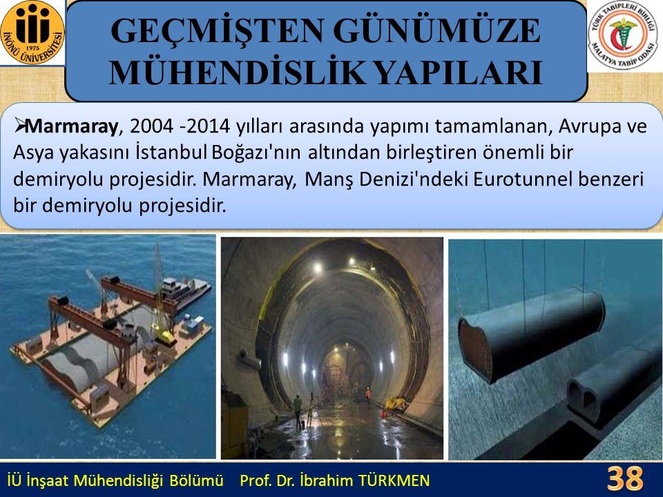İÜ İnşaat Mühendisliği Bölümü Prof. Dr. İbrahim TÜRKMEN GEÇMİŞTEN GÜNÜMÜZE MÜHENDİSLİK YAPILARI  Marmaray, 2004 -2014 yılları arasında yapımı tamamla