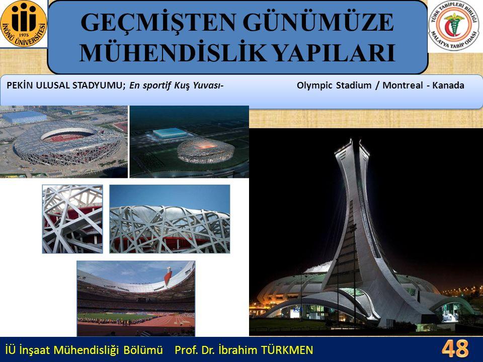 İÜ İnşaat Mühendisliği Bölümü Prof. Dr. İbrahim TÜRKMEN GEÇMİŞTEN GÜNÜMÜZE MÜHENDİSLİK YAPILARI PEKİN ULUSAL STADYUMU; En sportif Kuş Yuvası- Olympic