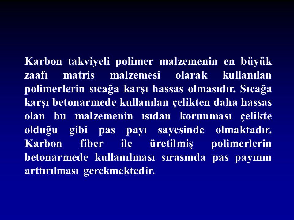 Karbon takviyeli polimer malzemenin en büyük zaafı matris malzemesi olarak kullanılan polimerlerin sıcağa karşı hassas olmasıdır.