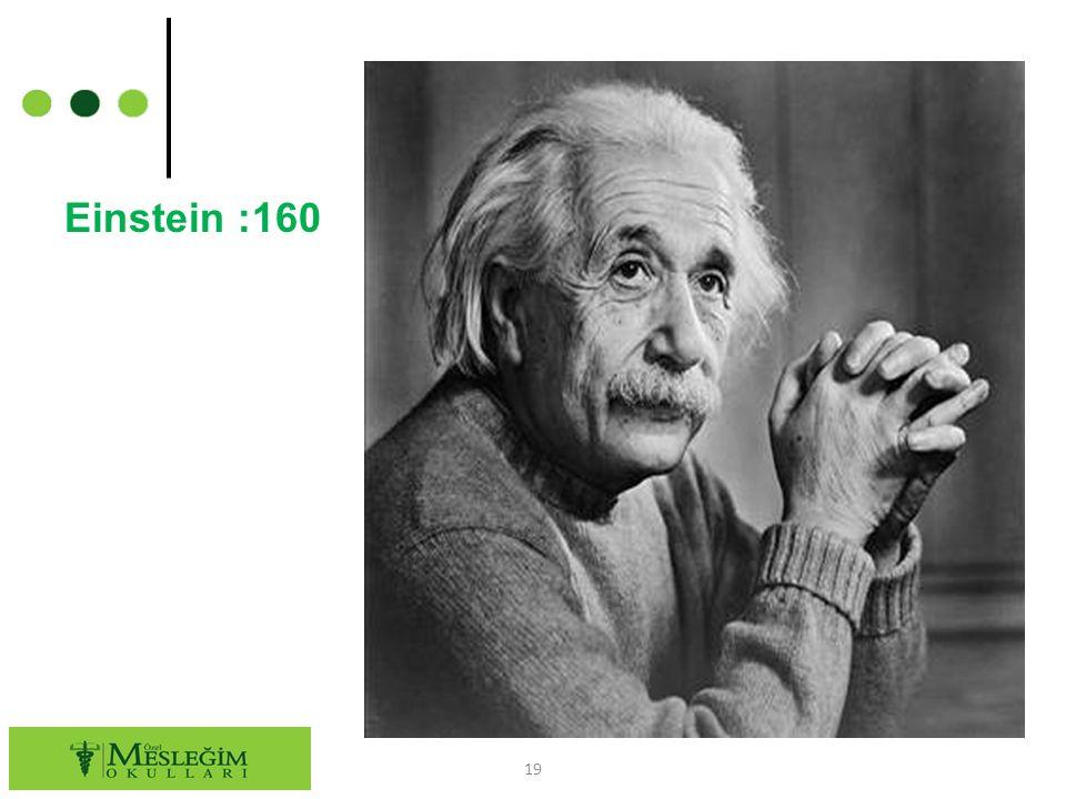 Einstein :160 19