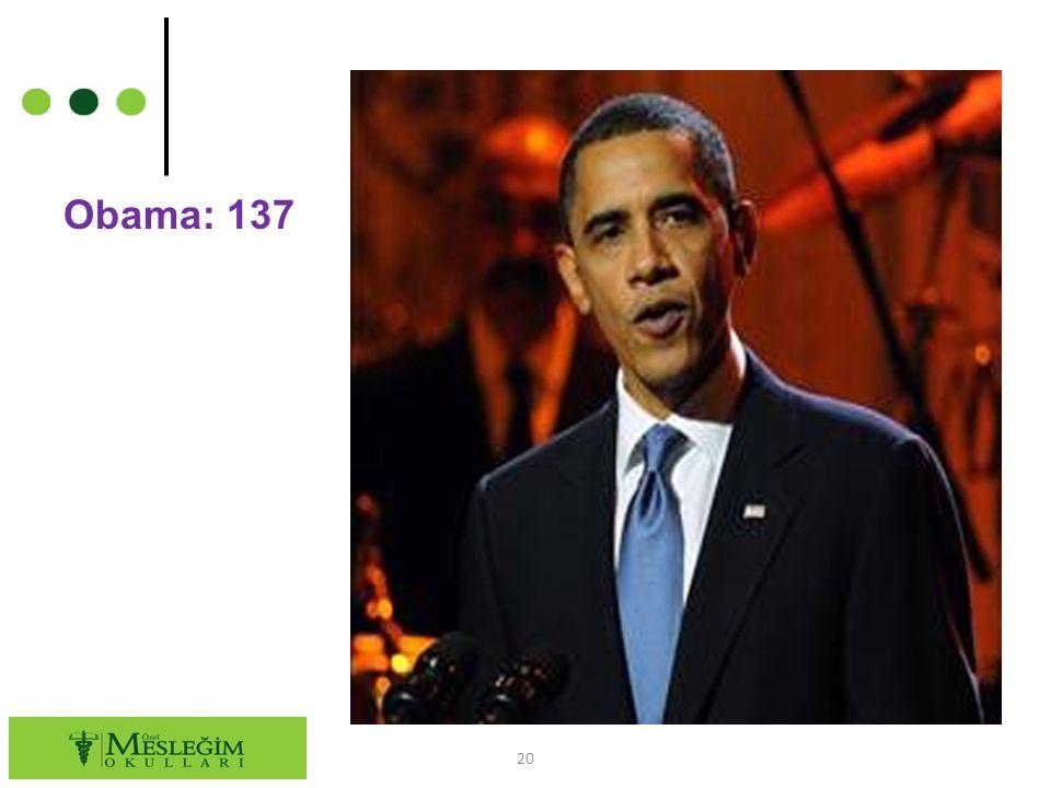 Obama: 137 20