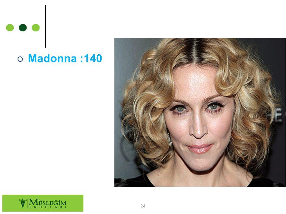 ○ Madonna :140 24