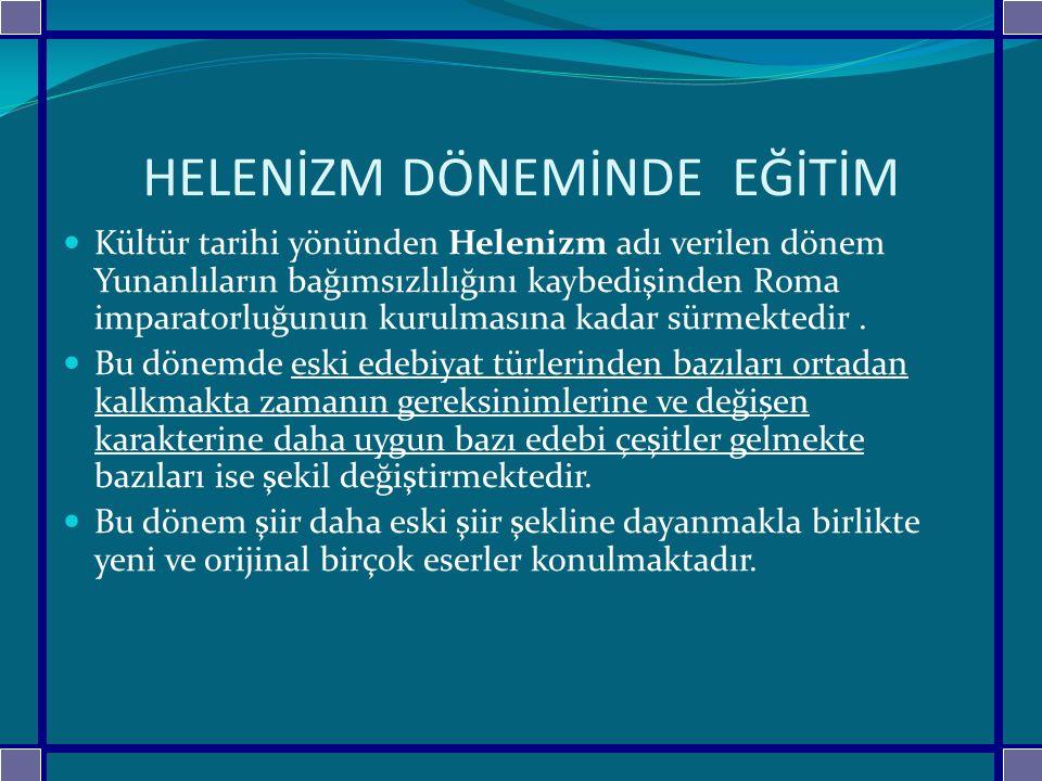 ÖZET Eğitimin tarihsel temelleri; Avrupa'da,,doğu toplumlarında ve Türklerde ele alınmaktadır.Bu sınıflandırmanın içerisinde ki toplumlar,düşünsel ve eğitim dünyasına damgasını vurmuşlardır.