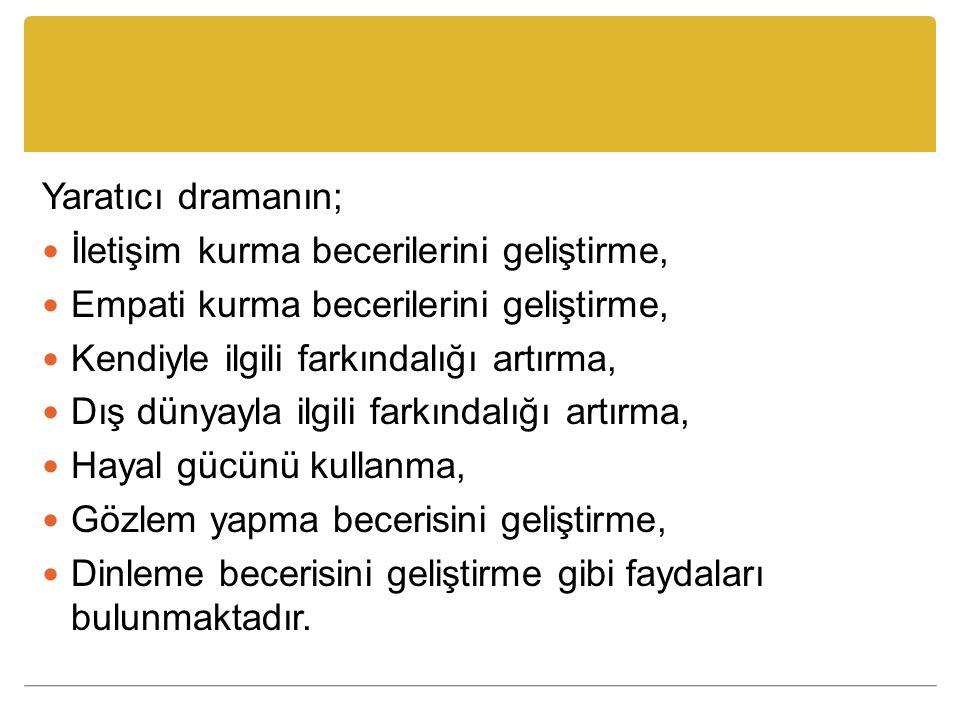Kaynaklar Adıgüzel, H.Ö. (2006). Yaratıcı Drama Kavramı, Bileşenleri ve Aşamaları.