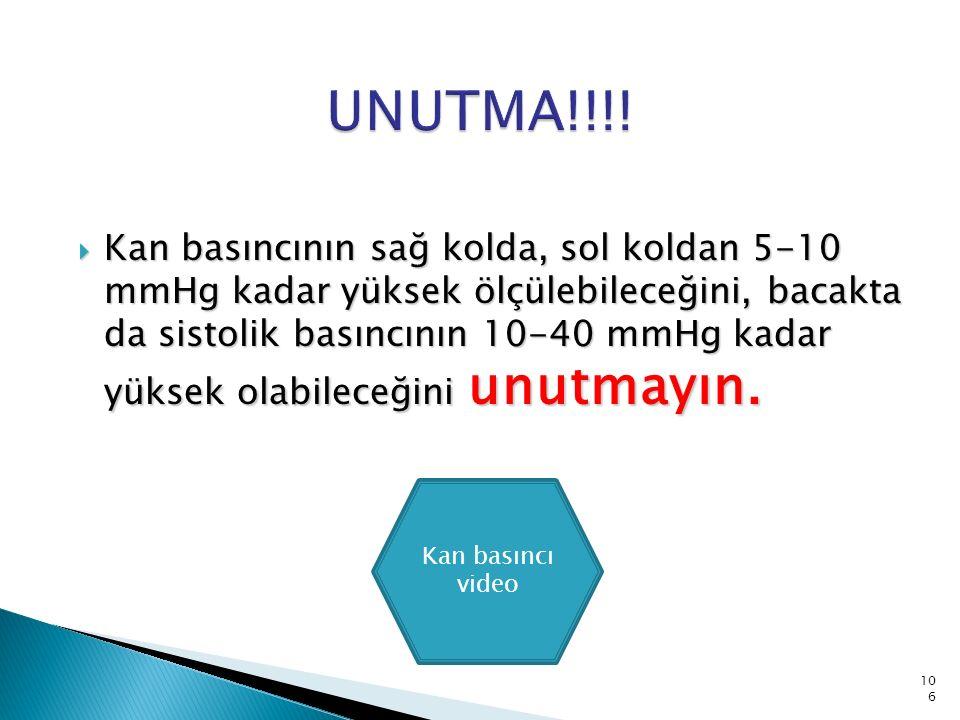  Manşetin hastanın yaşına ve kilosuna uygun seçilmemesi!!!.