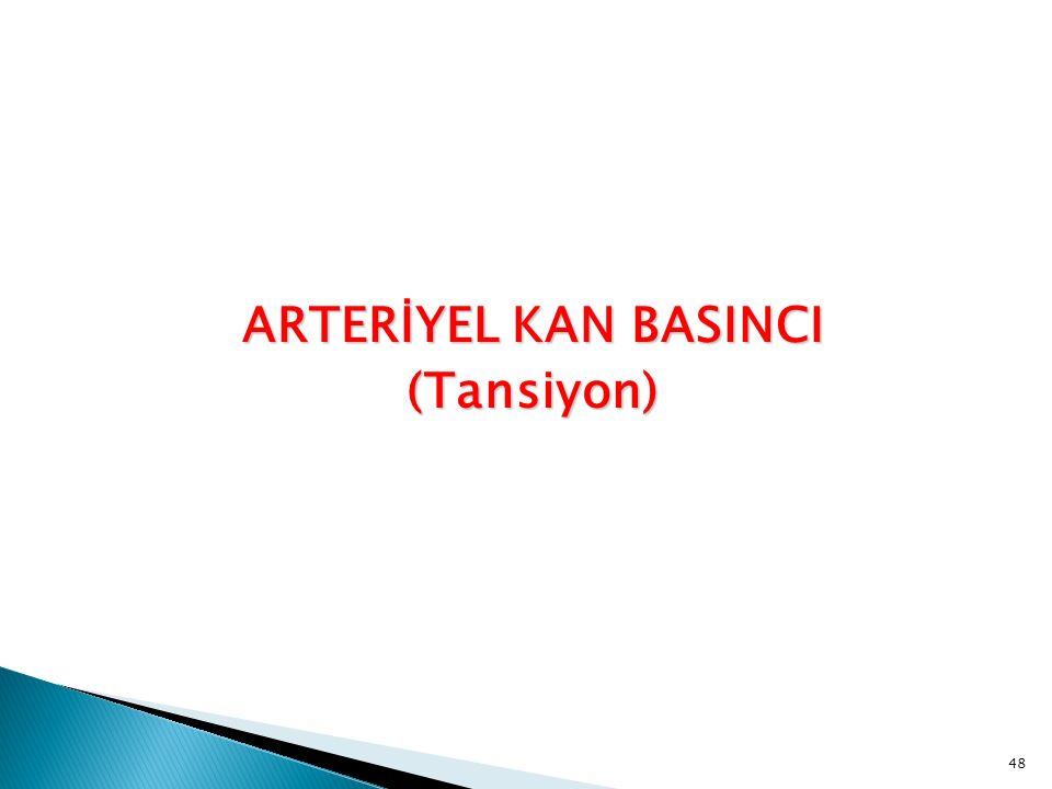 ARTERİYEL KAN BASINCI (Tansiyon) 48