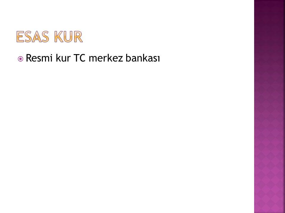  Resmi kur TC merkez bankası