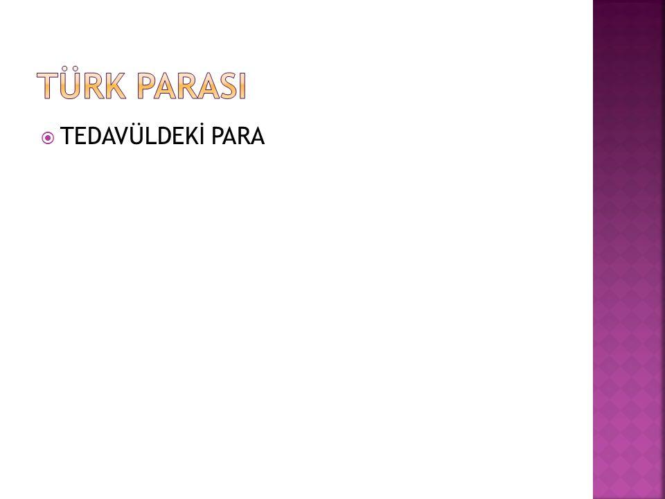  TEDAVÜLDEKİ PARA