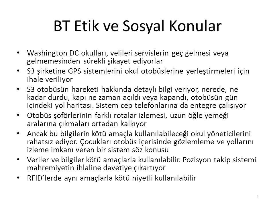 BT Etik ve Sosyal Konular Washington DC okulları, velileri servislerin geç gelmesi veya gelmemesinden sürekli şikayet ediyorlar S3 şirketine GPS siste