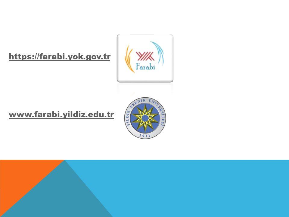 https://farabi.yok.gov.tr www.farabi.yildiz.edu.tr