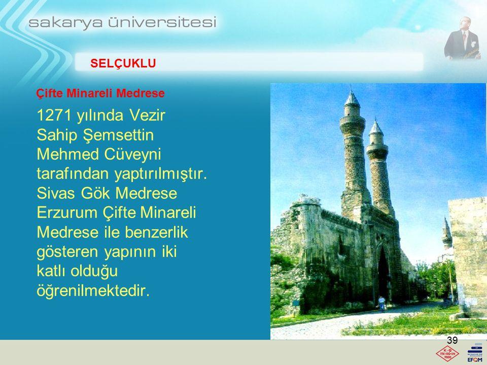 İhlasiye Medresesi Bitlis İl Merkezinde bulunan Medrese, Selçuklular tarafından 1216 tarihinde yaptırılmıştır. Kitabesine göre 1589 tarihinde Bitlis h