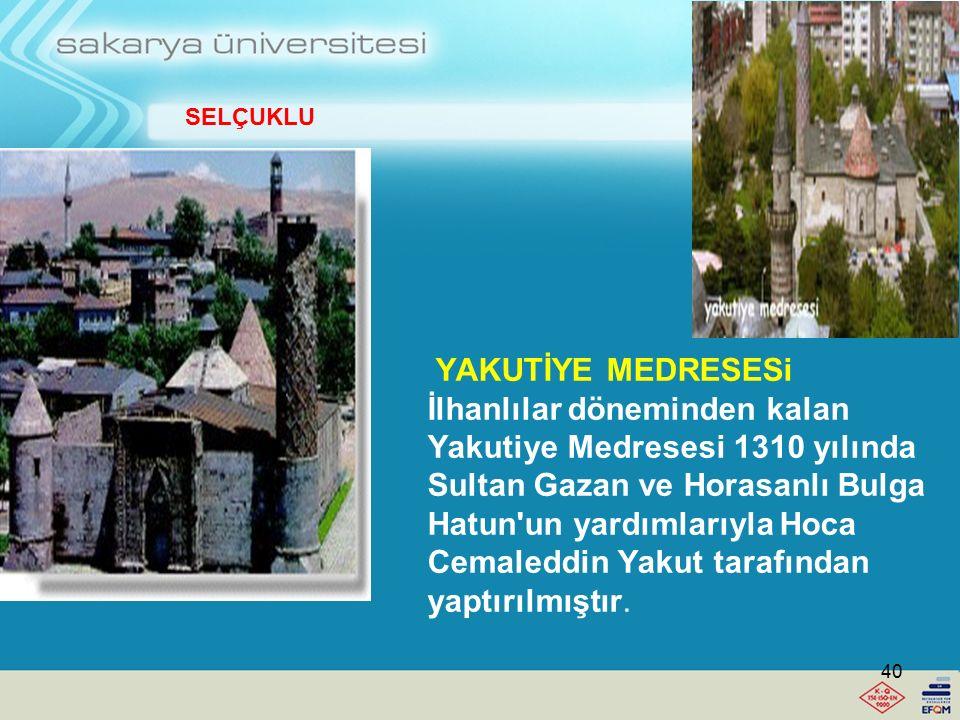 Çifte Minareli Medrese 1271 yılında Vezir Sahip Şemsettin Mehmed Cüveyni tarafından yaptırılmıştır. Sivas Gök Medrese Erzurum Çifte Minareli Medrese i