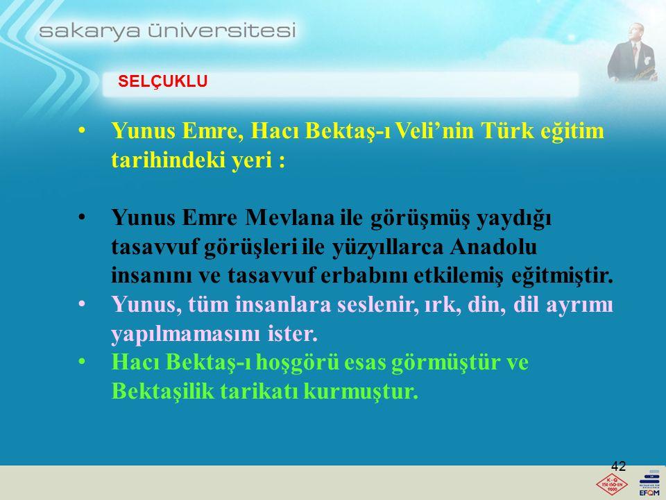 Mevlana Celalettin'in Türk eğitim tarihindeki yeri Temel eseri: Farsça Mesnevi, Divan-ı Kebir, Fihi Mafih'dir. Mevlana sevgi, kardeşlik, hoşgörü, insa