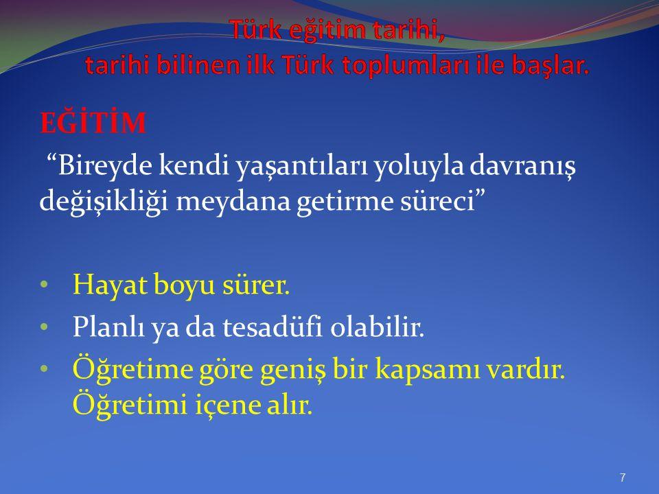 KAŞKARLI MAHMUT'UN TÜRK EĞİTİM TARİHİNDEKİ YERİ.