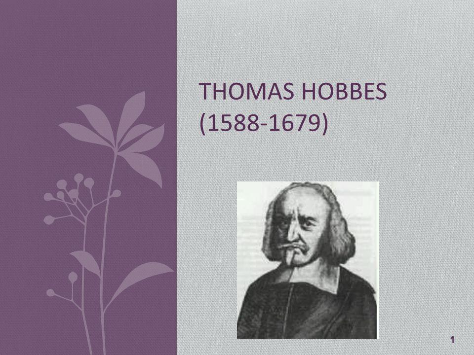 1 THOMAS HOBBES (1588-1679)