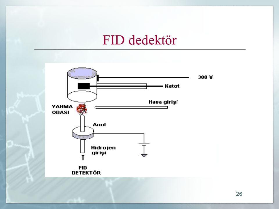 26 FID dedektör