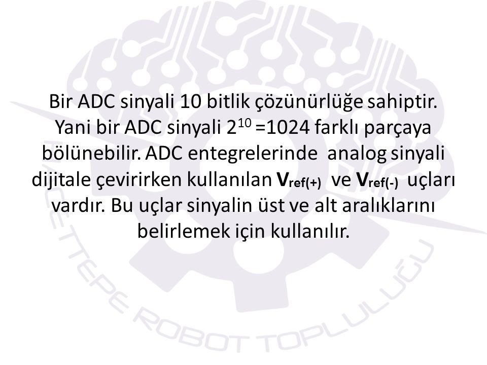 SETUP_ADC() FONKSİYONU Bu fonksiyon ile A/D biriminin mod ayarı yapılır.