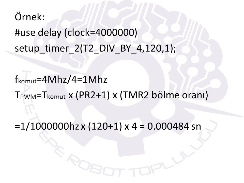 SET_PWMX_DUTY() FONKSİYONU PWM modunda oluşturulan PWM sinyalinin görev çevrimi süresini (duty cycle) belirlemeye yarayan fonksiyondur.