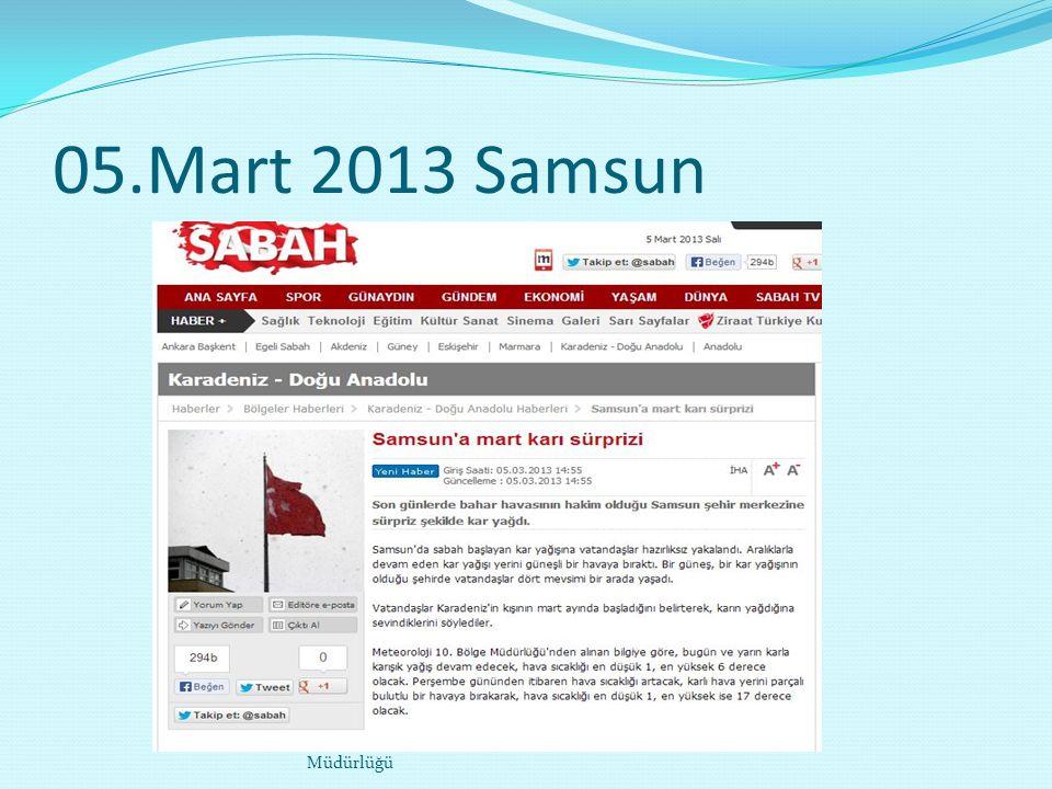 05.Mart 2013 Samsun Melik Ahmet TAŞTAN- Analiz ve Tahminler Şube Müdürlüğü