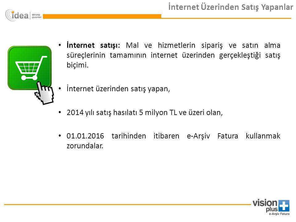 İnternet satışı: Mal ve hizmetlerin sipariş ve satın alma süreçlerinin tamamının internet üzerinden gerçekleştiği satış biçimi.