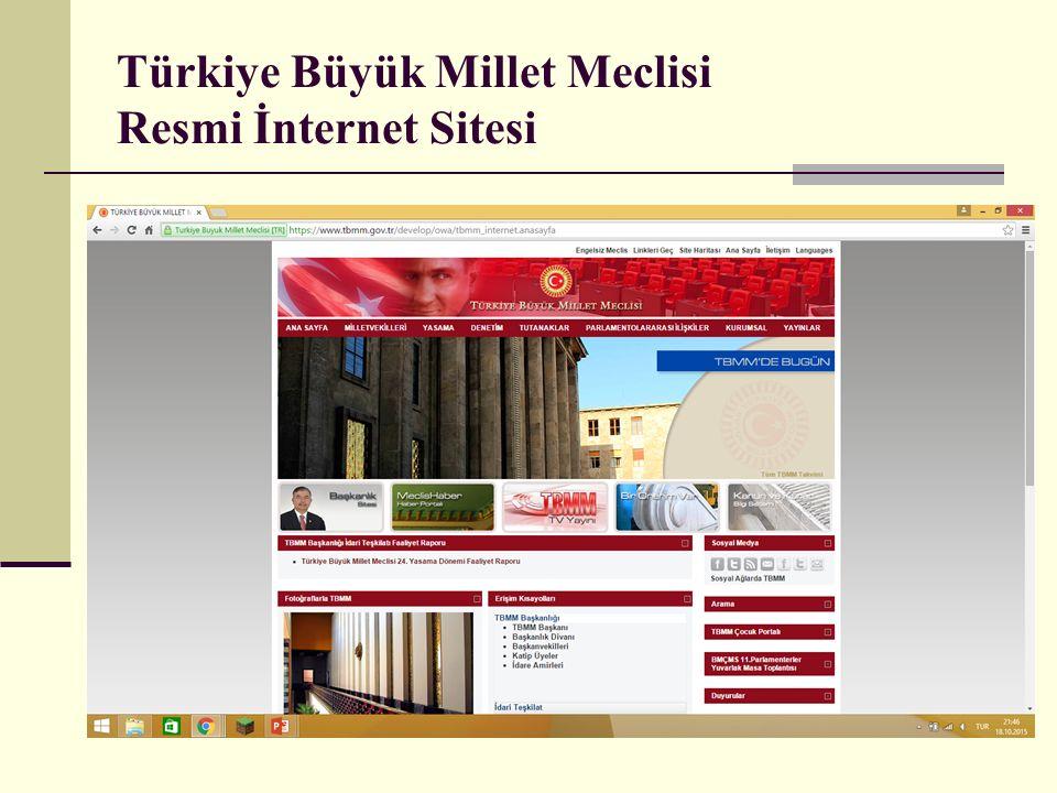 Türkiye Büyük Millet Meclisi Resmi İnternet Sitesi