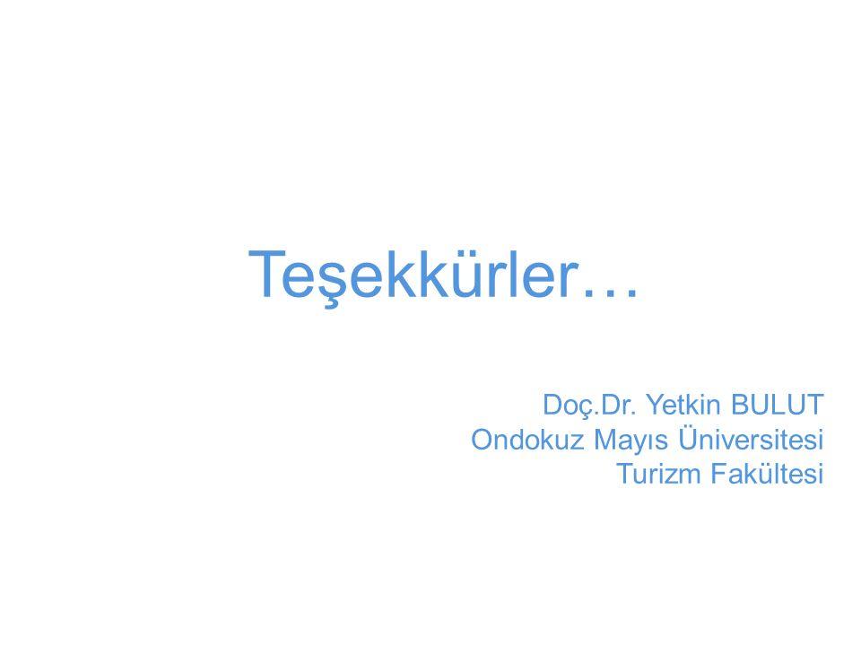 Teşekkürler… Doç.Dr. Yetkin BULUT Ondokuz Mayıs Üniversitesi Turizm Fakültesi
