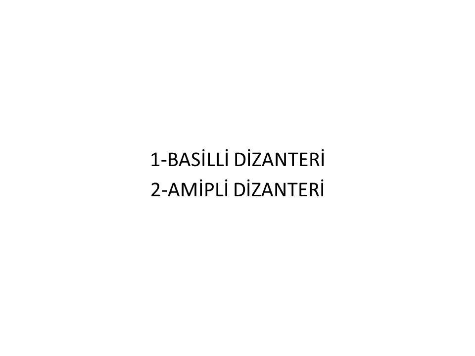 1-BASİLLİ DİZANTERİ 2-AMİPLİ DİZANTERİ