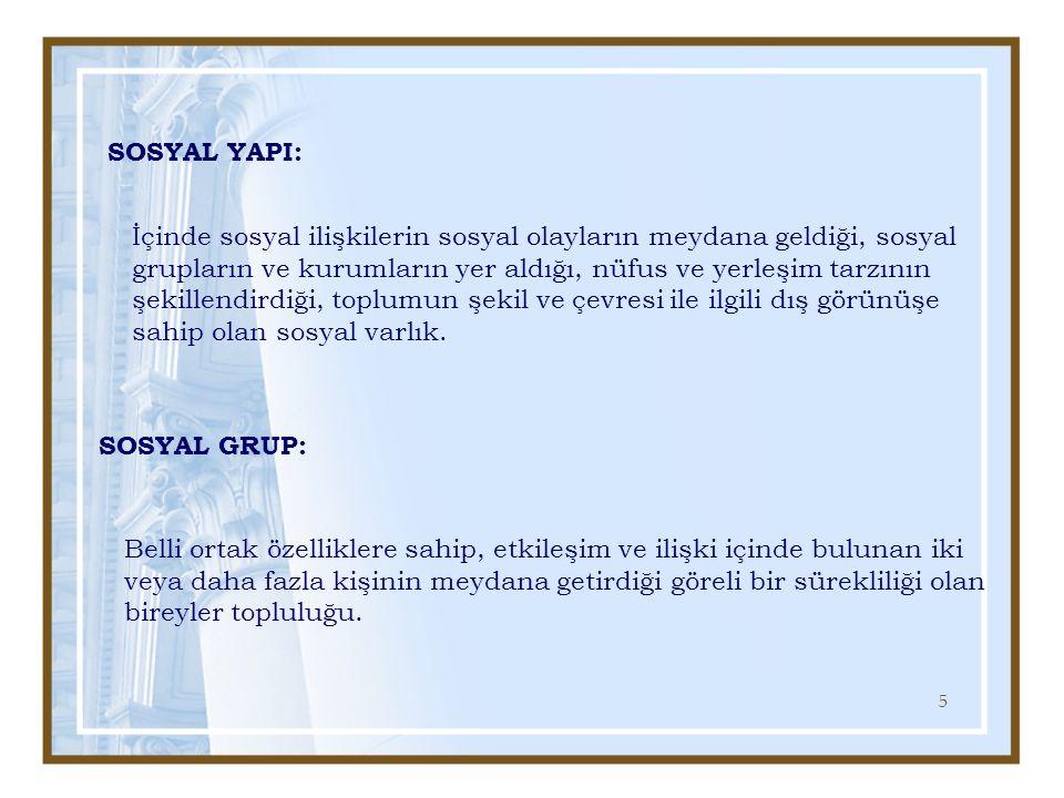 26 SOSYAL GRUPLAR A.