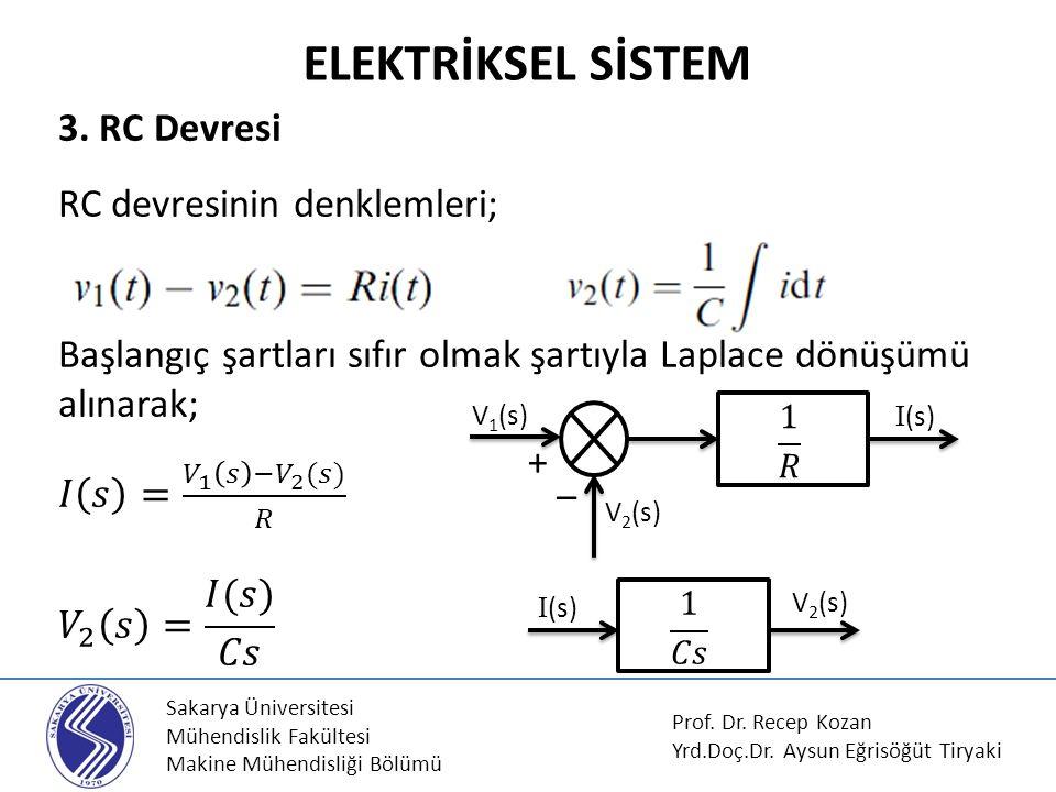 Sakarya Üniversitesi Mühendislik Fakültesi Makine Mühendisliği Bölümü 3.