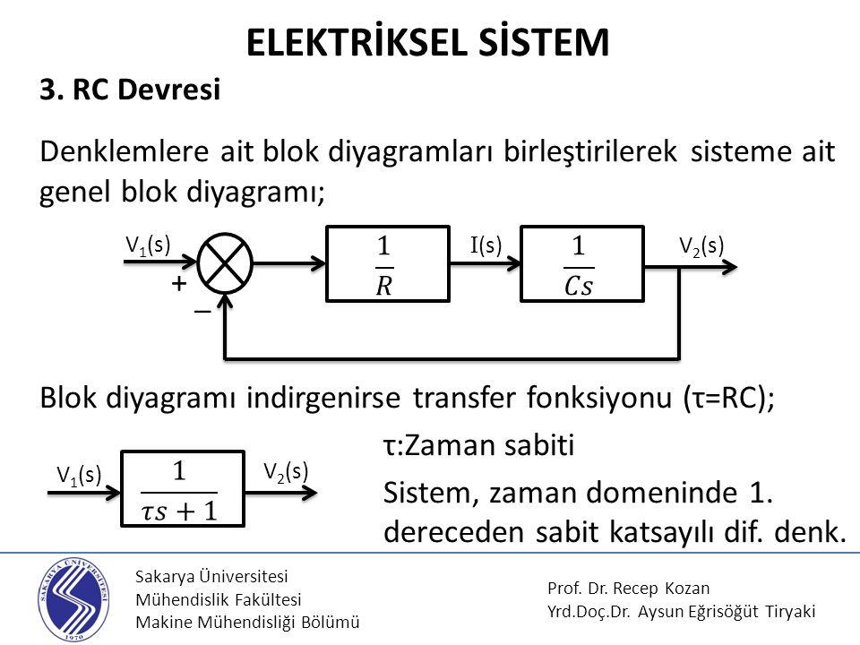 Sakarya Üniversitesi Mühendislik Fakültesi Makine Mühendisliği Bölümü Şekildeki su ısıtma sistemini ele alalım.