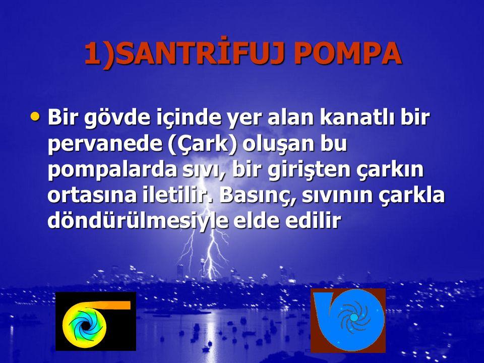 6)PROPELLER (PERVANE) POMPA İMPELLER (pervane) POMPAYA BENZER AMA SIVIYI DAHA DÜZ BİR ALANDA BASAR.