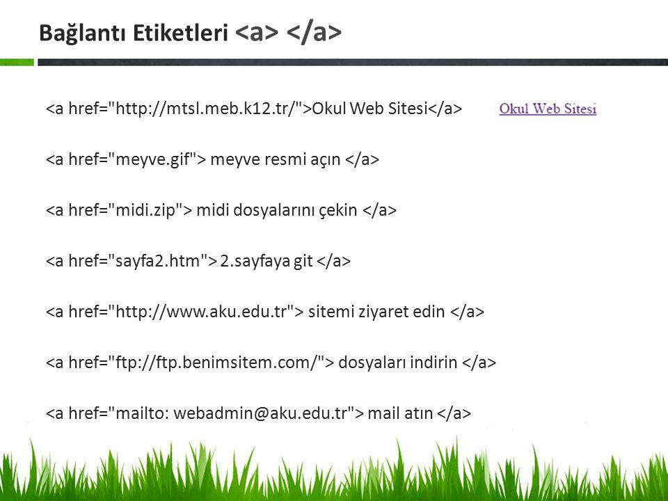 Okul Web Sitesi meyve resmi açın midi dosyalarını çekin 2.sayfaya git sitemi ziyaret edin dosyaları indirin mail atın Bağlantı Etiketleri