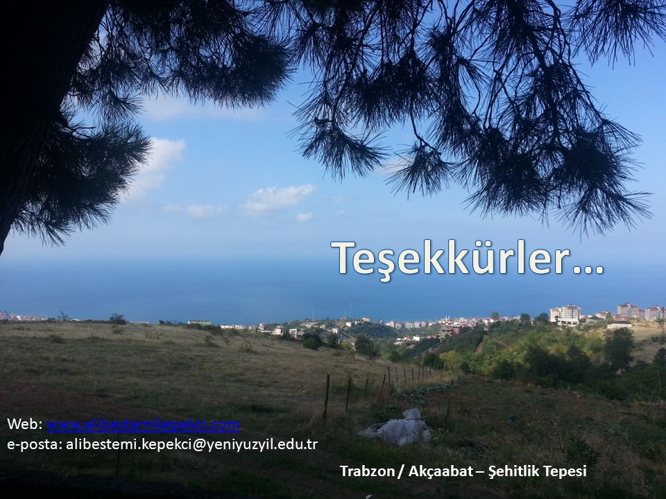 Trabzon / Akçaabat – Şehitlik Tepesi Web: www.alibestamikepekci.comwww.alibestamikepekci.com e-posta: alibestemi.kepekci@yeniyuzyil.edu.tr