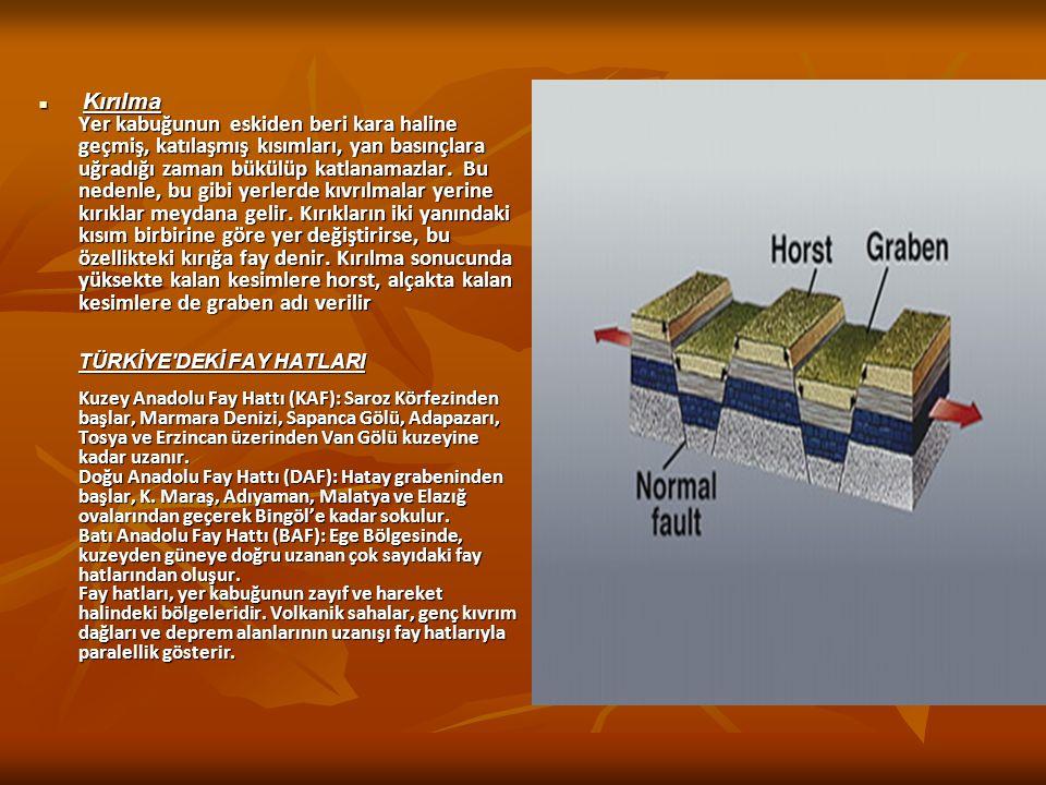 KITA OLUŞUMU (EPİROJENEZ) HAREKETLERİ Yer kabuğunda meydana gelen geniş alanlı alçalma ve yükselme hareketlerdir.