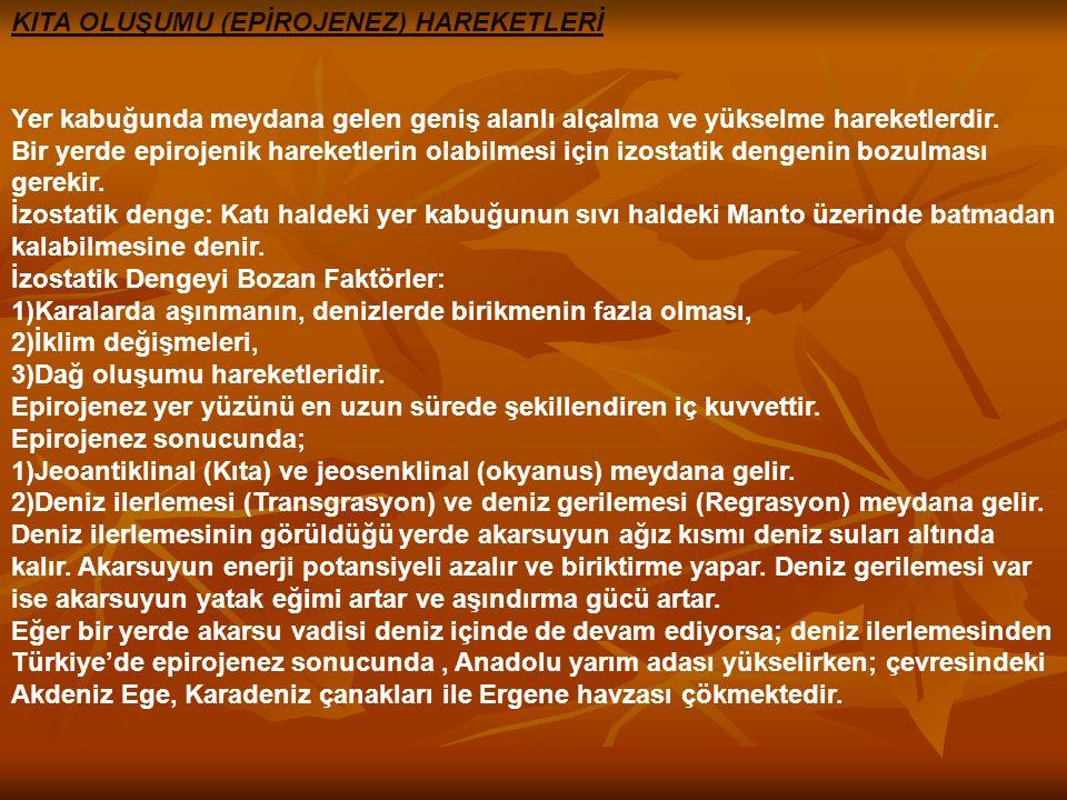 EPİROJENEZ EPİROJENEZ ANADOLU'NUN TOPTAN ANADOLU'NUN TOPTAN YÜKSELMESİ YÜKSELMESİ