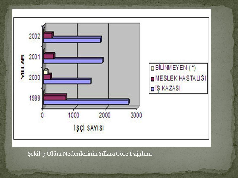 Şekil-3 Ölüm Nedenlerinin Yıllara Göre Dağılımı