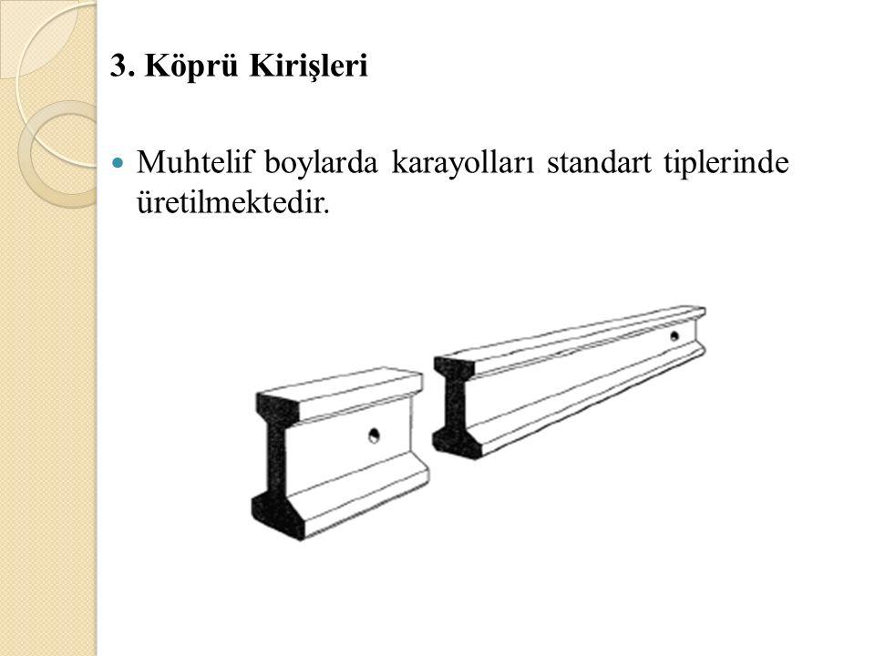3. Köprü Kirişleri Muhtelif boylarda karayolları standart tiplerinde üretilmektedir.