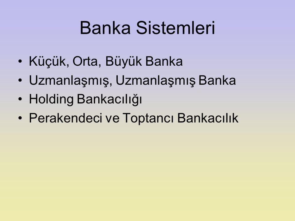 Ticari Bankalar Amaç: Bilanço Karı (İşletmenin cari Pazar değerinin maksimizasyonu) Öz kaynak verimliliği Sektörel karlılık Önemi: Vadesiz Mevduat Toplanması sürecine taktı Kaydi para yaratma Kısa vadeli kredi Para politikalarının etkinliğin sağlama Gelir ve servet dağılımını etkileme