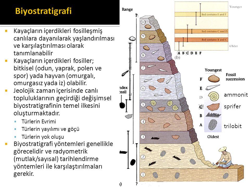  Kayaçların içerdikleri fosilleşmiş canlılara dayanılarak yaşlandırılması ve karşılaştırılması olarak tanımlanabilir  Kayaçların içerdikleri fosille