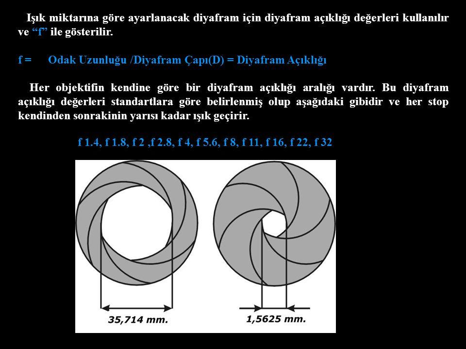 Alan Derinliği Alan derinliği fotoğraftaki net olan objelerin dahil olduğu düzlemdir.